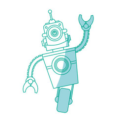 robot toy funny vector image