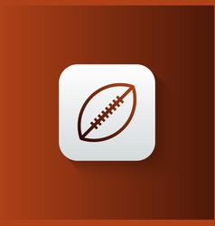 rugfootball line icon isolated on gradient vector image