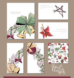 Set with blank visit cards and posters template vector