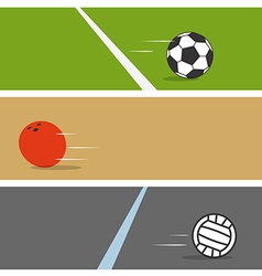 Sport ball collection vector