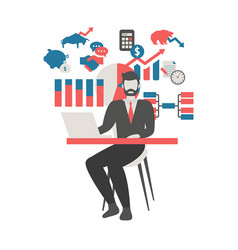 stock market concept stock market concept vector image