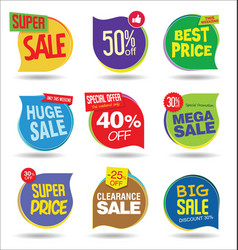 super sale discount tags and stickers collection 1 vector image