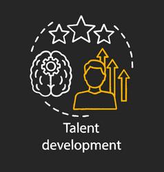 Talent development chalk concept icon vector