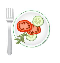 veggies salade flat vector image