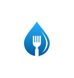 water food logo icon design vector image