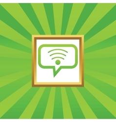 Wi-Fi message picture icon vector
