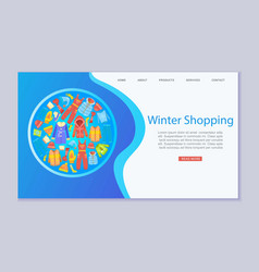 winter shopping fashion and winter apparel with vector image