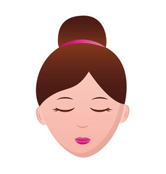 woman face character vector image