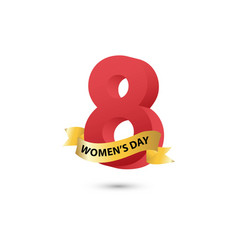 womens day template design vector image