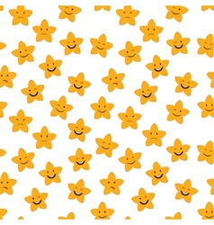 Cartoon stars seamless vector image