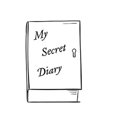 private diary vector image