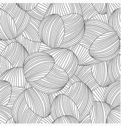 seamless abstract hand-drawn pattern waves vector image vector image