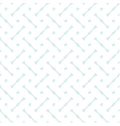 tile pattern with blue print on white background vector image vector image