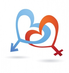 Venus and Mars symbols vector image vector image