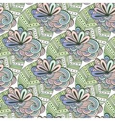 Zen art floral pattern zentangle coloring vector