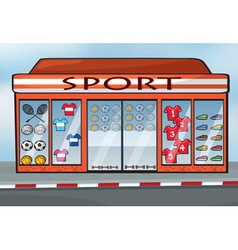 A sports store vector image vector image