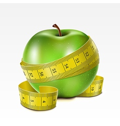 Apple with centimeter vector