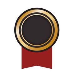 award ribbon blank vector image vector image