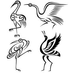 Bird crane illustration vector