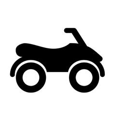 cuatrimoto isolated icon design vector image