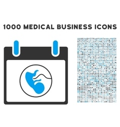 Embryo Calendar Day Icon With 1000 Medical vector image vector image