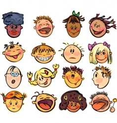 kids face vector image vector image