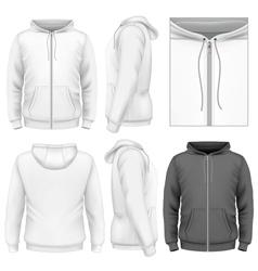 Mens zip hoodie design template vector image vector image