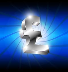 metallic pound money icon vector image vector image