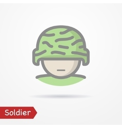 Soldier face icon vector image