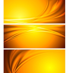 Abstract sunny banners vector image vector image