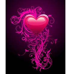 Romantic Heart Decoration vector image vector image