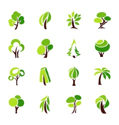 trees - logo template set vector image vector image