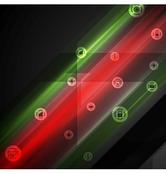Bright tech comminication background vector image vector image