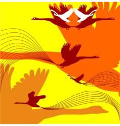 fall birds vector image vector image