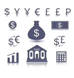 money symbol vector image