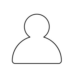 profile outline icon isolated lined vector image vector image