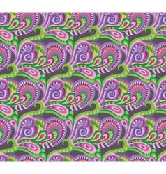 Seamless paisley decorative pattern vector image