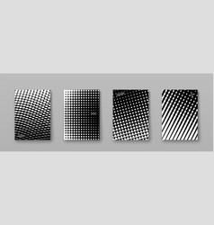 abstract background with black white elements vector image