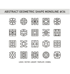 Abstract geometric shape monoline 34 vector