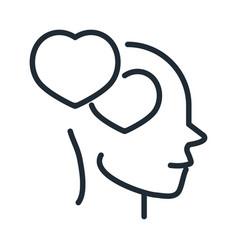 Alzheimers disease neurological brain feeling line vector