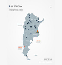 Argentina infographic map vector