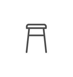 backless stool line icon vector image
