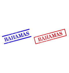 Bahamas grunge rubber stamp seals with rectangle vector