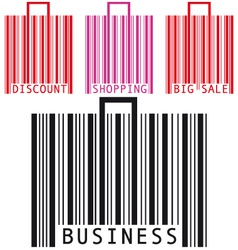 bar code bags vector image