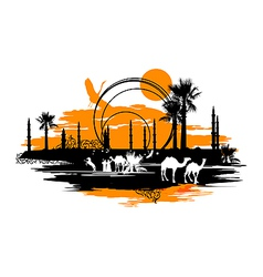 Camels vector image vector image