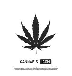 Cannabis leaf icon marijuana sign template weed vector