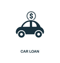 Car loan icon line style icon design from vector