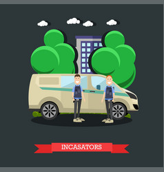 collectors concept in flat vector image