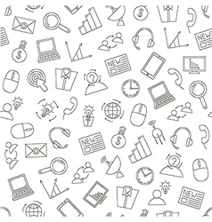 Communicationbusiness pattern black icons vector image