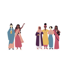 diverse multiracial and multicultural group vector image